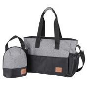 . Nappy Shoulder Bag for Moms, Plus Insulated Bottle Sack