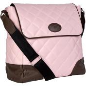 JP Lizzy Clara Nappy Bag in Strawberry Truffle 28cm . H x 28cm . W x 14cm . D