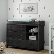 Pemberly Row Wood Changing Table and Station in Grey Oak
