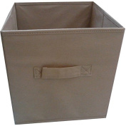 Multi Functional ,Durable Mainstays Collapsible Fabric Storage Cube, Set of 2 , Multiple Colours (27cm x 27cm ), Brown Stone