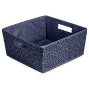 Blossom Fabric Half Storage Bin in Blue