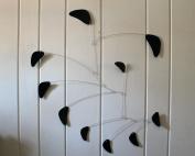 Adult Mobile / Black Mobile / Kinetic Sculpture / Hanging Mobile / Handmade USA / Calder Inspired / Rang Style