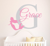 Custom Mermaid Girl Name Wall Decal Baby Girl Room Decor Nursery Mermaid Wall Decal Vinyl Sticker