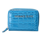 Versace Jeans Women's Textured Bright Blue Bifold Wallet
