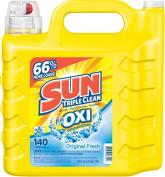 Sun Ultra Liquid Laundry Detergent Plus Oxi, Original Fresh, 7390mls, 140 Loads