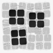 DONECO 5.1cm Square TENS Unit Electrodes, 48-Pack Electro Pads for TENS Therapy - Universally Compatible with Most TENS Machine Models - 48-Piece Value Pack - Self-Adhering, Reusable and Premium Quality