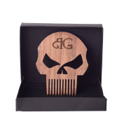 Punisher Skull Beard Comb By Beard Gains
