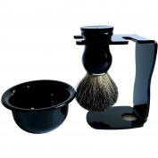 Genuine badger brush + Shaving Brush Stand Holder for Razor + Mug Set