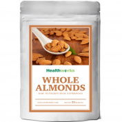 Healthworks ALMONDS 0.9kg WHOLE RAW UNPASTEURIZED (Sproutable) PESTICIDE FREE 950ml
