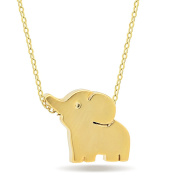 925 Sterling Silver Small Elephant Necklace, 14k Gold/Silver Plated Mini Elephant Necklace, Lucky Elephant Pendant Necklace Simple Necklace Elephant Jewellery Pendant Chain 41cm w 5.1cm Ext