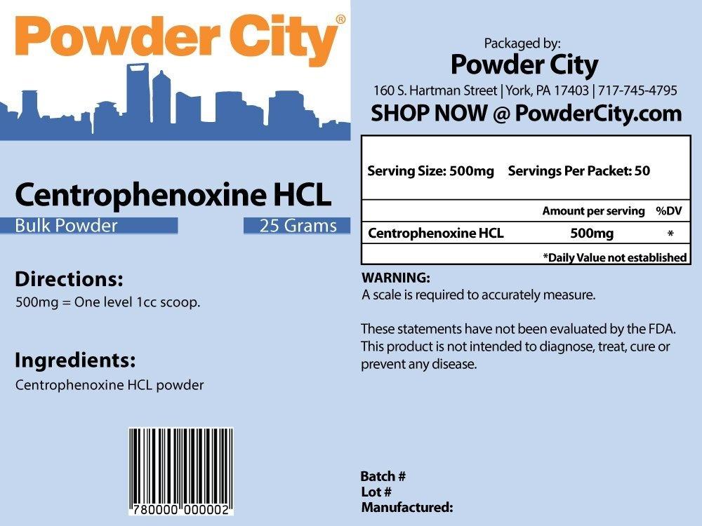 Powder City Centrophenoxine Powder 25 Grammes By Powder City