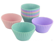 Lautechco® 10pcst Round Shape Silicone Muffin Cases Cake Cups Cupcake Liner Baking Mould Bakeware Kitchen Dining Bar