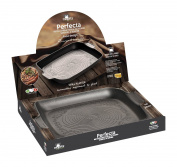 "Mopita Perfecta 33cm x 26cm/13"" x 10"" Non-Stick Forged Aluminium Grill/Tray, Large, Grey"