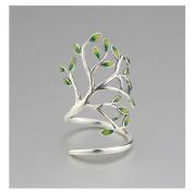 Hi-summer Innovative Life Tree Sterling Silver Open Ring
