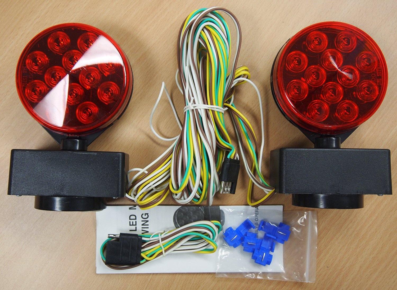 12V LED Magnetic Towing Light Kit 24 LEDS Multi-Function DOT Wesbar Wiring Diagram on