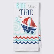 Ritz 2 Pk Cotton Kitchen Towels, Ride The Tide
