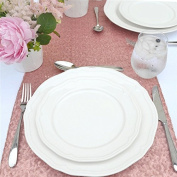 TRLYC 33cm *150cm Blush Sequin Table Runner for Wedding/ Party/ Banquet