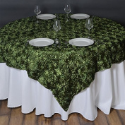 72 Inchx72 Inch Grandiose Rosette Table Overlays - Willow Green