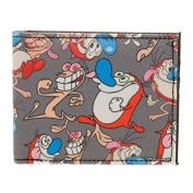 Wallet - Ren & Stimpy - Sublimated Bi-Fold New Licenced mq4ck4rns