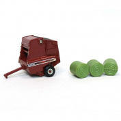 1/64th Hesston 565A Round Baler with 3 Bales
