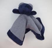 Baby Boy Plush Bear Blankie - Navy