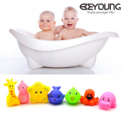 Mini Squeaky Animal Bath Toys, Beyoung® 7pcs/Lot Mixed Different Animal Bath Toys Children Washing Education Toys
