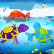 New Born Babies Swim Turtle Wound-up Chain Small Animal Baby Children Bath Toy Classic Toys Random Colour 1 pcs