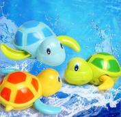. Babies Swim Turtle Wound-up Chain Small Animal Baby Children Bath Toy Classic Toys Random Colour 1 pcs
