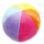 SHILOH Soft Organic Rainbow Ball with Gentle Rattle - First Ball for Baby