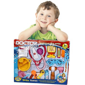 Toy Cubby Kids Play Toy Series Doctor Medical Tools Play Set - 19 pieces Doctor Tools