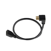 """Seadream 20"""" 50CM 90 Degree HDMI Down-uptoward Male to HDMI Female Cable Adapter Connector"""