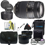 Tamron AF 70-300mm f/4.0-5.6 Di LD Macro Zoom Lens with Built In Motor for Canon Digital SLR Cameras + Pixi-Pro Bundle