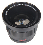 BiG Digital 0.42x 58mm SUPER FISHEYE Wide-angle lens with Macro close-up attachment for Canon Cameras.