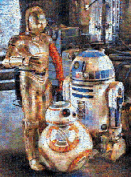Buffalo Games Droids of the Resistance Star Wars Episode VII Photomosaic Puzzle