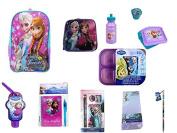 Disney Purple Anna & Elsa Frozen Backpack, Lunch Box, Lunch Kit PLUS School Set