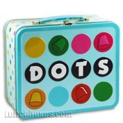 Dots Metal Lunchbox