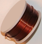 22 Gauge Round Brown Enamelled Craft Wire - 14m