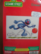 "Sesame Street ""Grover"" Counted Cross Stitch Kit"