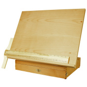 US Art Supply Adjustable Wood Artist Drawing & Sketching Board With Storage Drawer