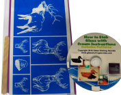 Wildlife Glass Etching Stencils, Elk, Deer & Eagle + How to Etch CD with Patterns