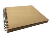 Kraft Cover Spiral Bound Scrapbook Photo Booth Album, Wedding Guest Book, Sketchbook, Journal