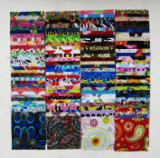 120 Assorted precut charm pack 10cm squares 100% cotton fabric quilt scrap
