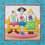 1 Little 2 Little 3 Little Quilters Wall Hanging Applique Pattern by Amy Bradley Designs ABD254