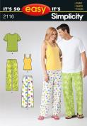 Simplicity It's So Easy Misses' Sleepwear Pattern