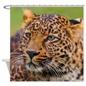 Zp Shine A Leopard Stares At The Distance Brown Bathroom Shower Curtain 120cm X 180cm