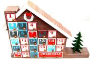 LED Wooden Advent Calendar Christmas Advent Calender Warm LED Lights House