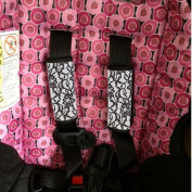 Baby Seat Strap Covers Black Lace Sherrys Stock TM