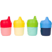 Healthy Sprouts Silicone Sippy Lids (4 Pack) - Make Any Cup a Sippy Cup!