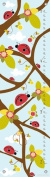 Oopsy Daisy Growth Charts Ladybug Branches Blue by Finny and Zook, 30cm by 110cm