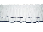Baby Doll Bedding Unique Window Valance, Navy